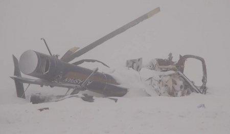 Появилось видео с места крушения вертолёта в Алматинской области