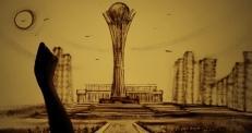 Песочную анимацию о Казахстане создала украинская художница