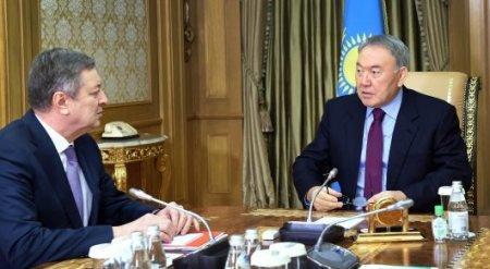 Назарбаев и Школьник обсудили запуск Кашагана и низкие цены на нефть