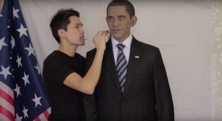 Казахстанец создал скульптуру Обамы