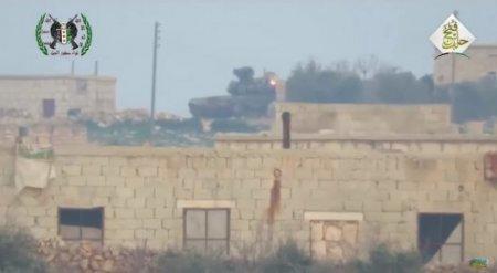 Российский танк Т-90 выдержал прямое попадание американской ракеты