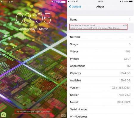 Новая версия iOS сообщит о слежке со стороны работодателя