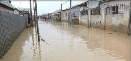 В селе Атамекен Мунайлинского района из-за дождей подтопило около 40 домов