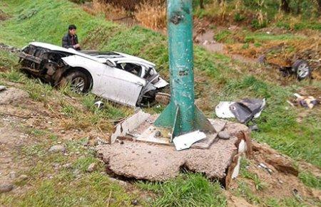 В Шымкенте машину разорвало пополам