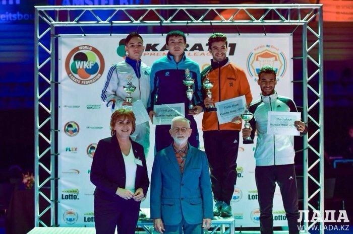Актауский спортсмен Асылбек Муратов завоевал золото в Премьер-Лиге карате в Голландии
