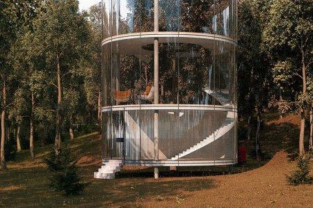 Архитектор из Казахстана разработал невероятный дом с деревом внутри