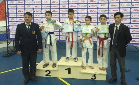 Актауские каратисты вернулись с чемпионата Казахстана с 14 медалями