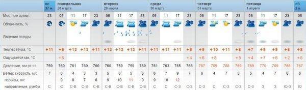 На предстоящей неделе в Актау синоптики обещают ливни