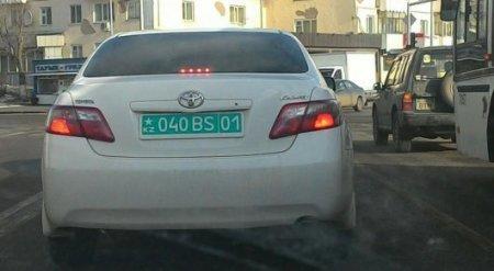 Цветные автономера со звездочкой удивили казахстанцев