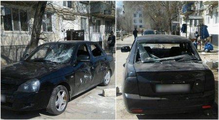 Жительница  Мангистау после ссоры с молодым человеком разбила камнем его автомобиль в Атырау