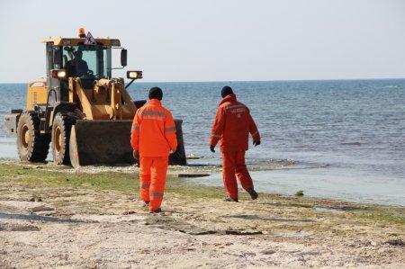 На набережной Актау начались работы по благоустройсту