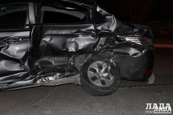 В Актау 51-летняя женщина-водитель автомашины  Hyundai Accent допустила дорожную аварию и получила травмы