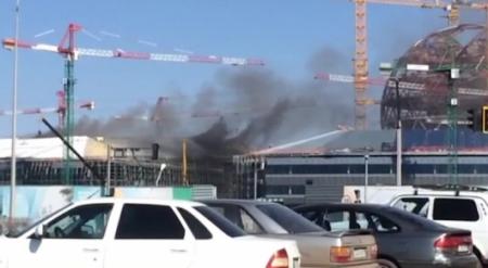 На территории стройплощадки EXPO произошел пожар