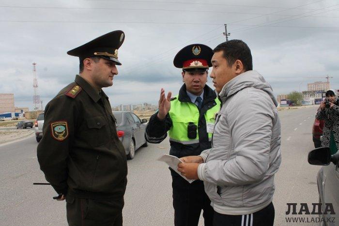 Пожарные и полицейские Актау провели рейд по выявлению непропускающих спецтранспорт водителей