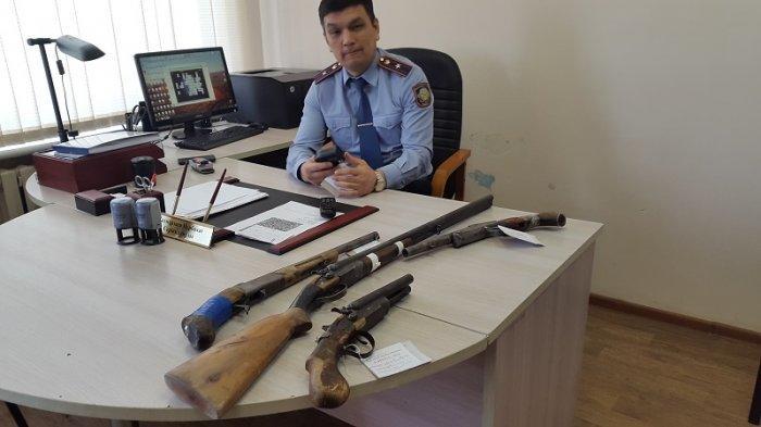Жители Мангистау сдали в полицию 36 единиц огнестрельного оружия