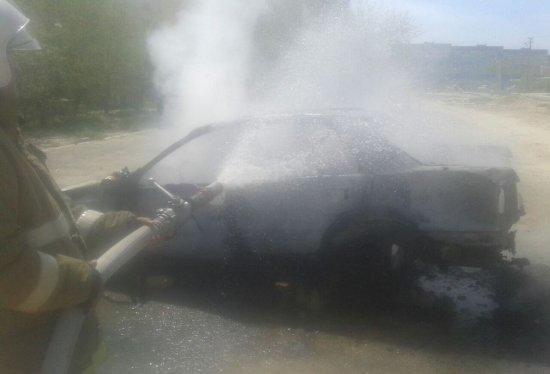 В Актау сгорел автомобиль