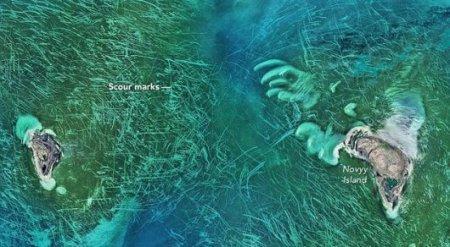 Ученые NASA увидели на дне Каспия загадочные следы