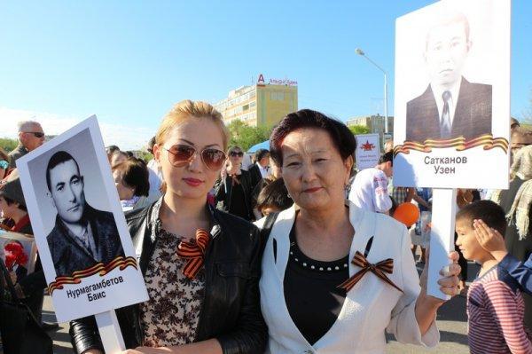 Более двух тысяч жителей Актау приняли участие в акции «Бессмертный полк»