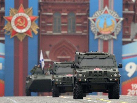 Назарбаев принимает участие в параде Победы в Москве