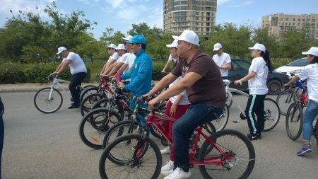 Актауский филиал провел благотворительный велопробег
