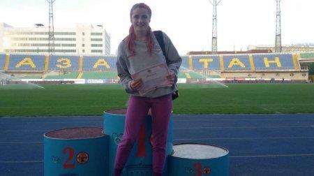 Мария Новосадова и Адиль Рамет стали первыми на чемпионате Казахстана по легкой атлетике