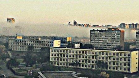 Вот как образуется туман ранним утром в Актау