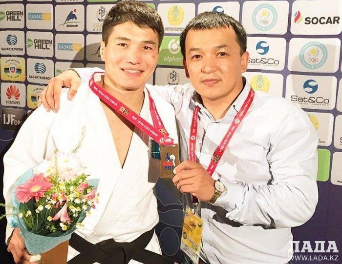 Дзюдоист из Актау Елдос Жумаканов стал бронзовым призером Гран-при и намерен бороться за участие в Олимпиаде в Рио