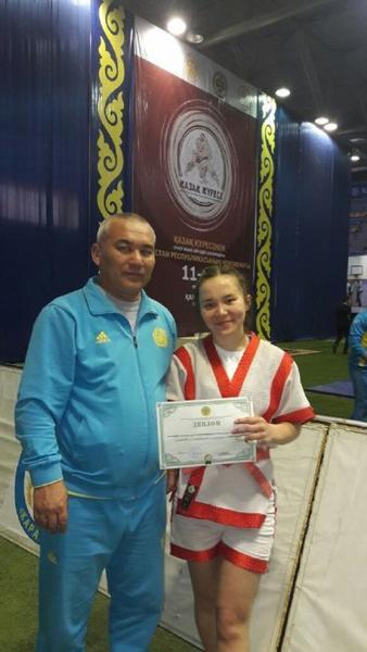 Жадыра Танатарова из Актау стала бронзовым призером чемпионата Казахстана по казакша курес