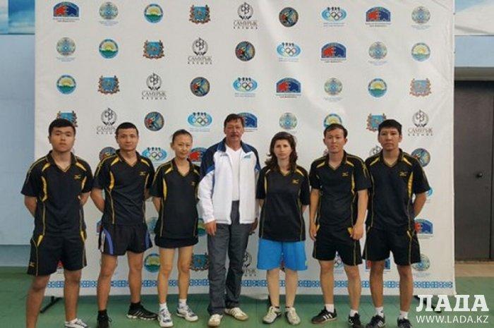 Спортсмены-инвалиды из Актау завоевали четыре медали на чемпионате Казахстана по настольному теннису