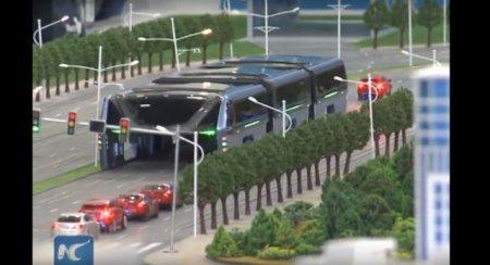 В Китае презентовали автобус будущего: он не боится пробок и аварий