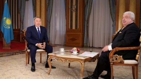 "Нурсултан Назарбаев дал интервью телеканалу ""Россия 24"""