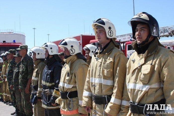 На нефтеперекачивающей станции «Актау» прошли пожарно-тактические учения