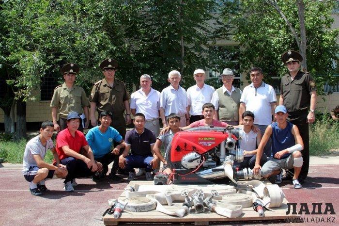 Огнеборцы Мангистау начали борьбу за звание лучших в чемпионате Казахстана по пожарно-спасательному спорту