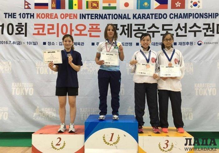 Каратисты из Актау завоевали четыре медали на международном турнире «Korea Open»