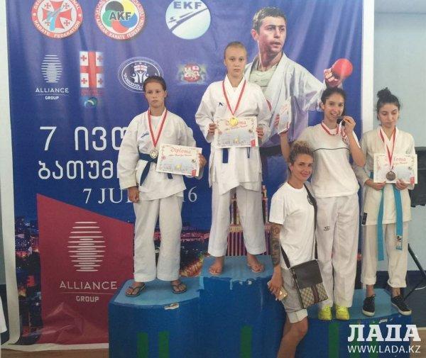 Актауские каратисты завоевали семь медалей на международном турнире в Грузии