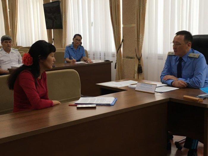Начальник департамента Генеральной прокуратуры Казахстана Серикбай Еримбетов ответил на вопросы жителей Актау