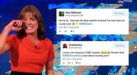 У телеведущей BBC случилась истерика в прямом эфире