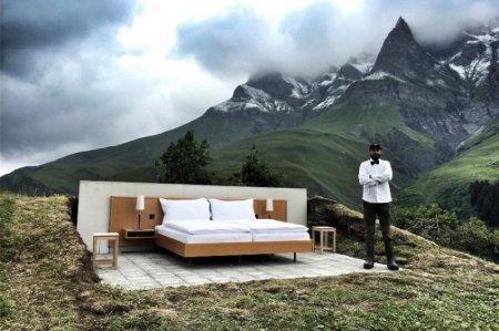 В швейцарских Альпах появился суровый и прекрасный отель «Ноль звезд»