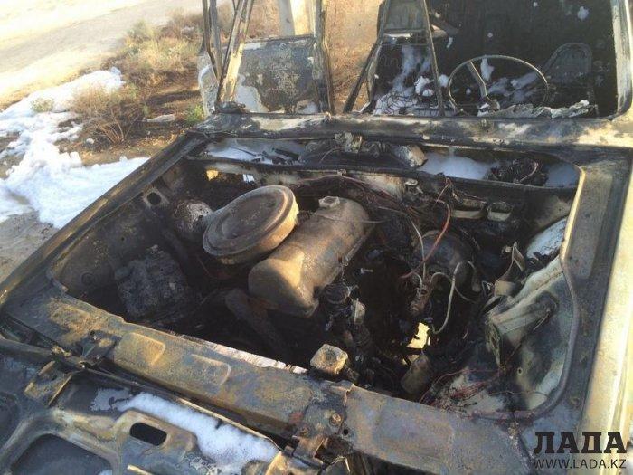 В Актау сгорел двадцать второй с начала года автомобиль