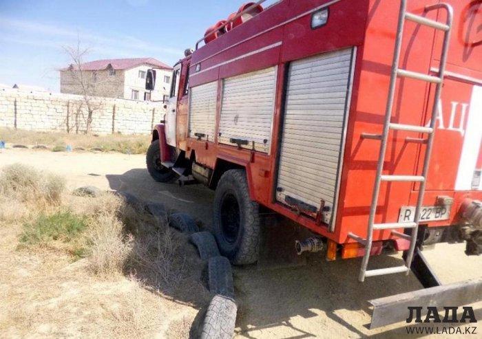 Команда пожарной части № 8 Актау стала победителем соревнований по скоростному маневрированию
