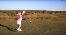Девочка сбила дрон мячом для гольфа