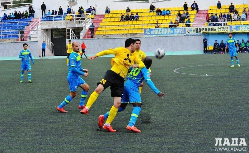 Футбольный клуб «Каспий» обыграл команду из Экибастуза