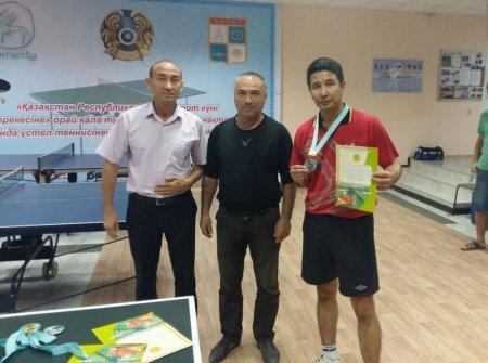 В Актау определили победителей городского турнира по настольному теннису