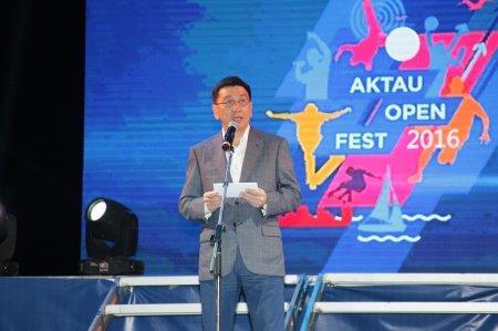 В Актау проходит праздничный концерт в честь открытия «Aktau Open Fest»