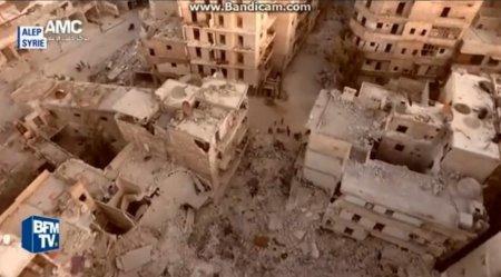 Беспилотник снял видео разрушений в Алеппо