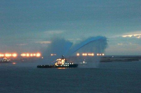 В честь юбилея Форт-Шевченко прошел парад кораблей