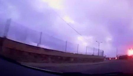 Момент крушения самолета на Мальте. Видео очевидца