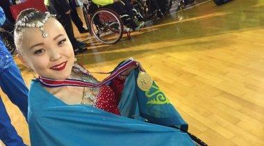 "Казахстанка завоевала ""золото"" на чемпионате Азии по танцам на колясках"