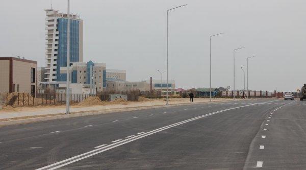 Странная разметка на новой дороге в Актау удивила водителей