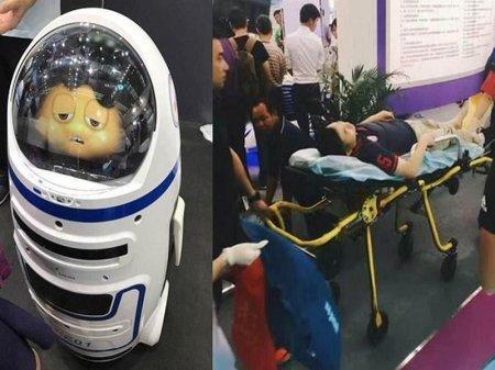 Робот напал на человека в Китае